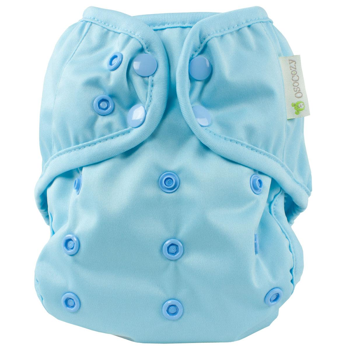 osocozy onesize diaper cover baby blue