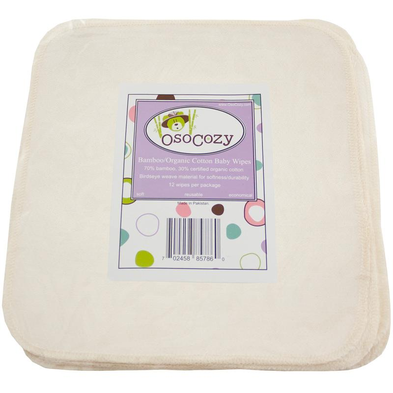 Bamboo-Organic Cotton Wipes in Package